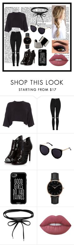 """Untitled #70"" by saarah-adnan ❤ liked on Polyvore featuring Topshop, Casetify, Thomas Sabo, Lime Crime and Maison Margiela"