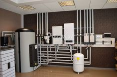 Collector circuit heating in a private house with their own hands Mechanical Room, Radiant Heat, Heating And Cooling, Boiler, Heating Systems, Plumbing, Home And Garden, Shelves, Flooring