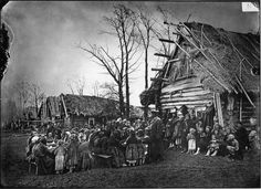 Russian Empire in the XIX Century Rural dining house on the picture above. 1891-1892
