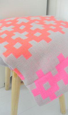 Aztec neon blanket
