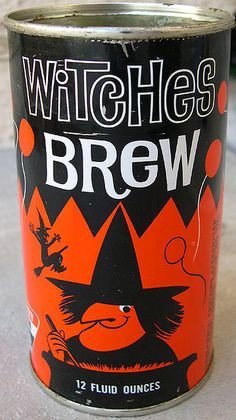 Witches Brew Soda Can, 1960's    This was a short-lived licorice flavored soda made by the Sunny Jim Company.