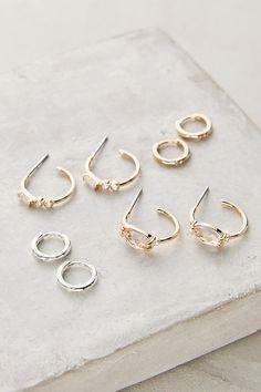 Slide View: 2: Leila Mini Hoop Earring Set
