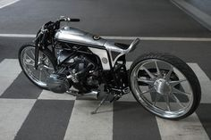 BMW Motorrad has been collaborating with custom builders since the introduction of their Heritage range. This is the first time they've invited one to build a bike around a concept engine though. Honda Dominator, Ducati Scrambler, Cb750 Honda, Honda Cb, Suzuki Cafe Racer, Cafe Racers, Flat Track Motorcycle, Cafe Racer Motorcycle, Motorcycle Bike