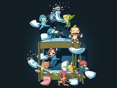 Toon Link, Captain Falcon, Mega Man, Mario, Sonic, Fox, Donkey Kong, Kirby, Samus and Pikachu.