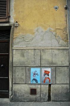 """Blub, """"L'arte sa nuotare"""". Il doppio ritratto dei Duchi di Urbino, Piazza de' Pitti, Firenze (Toscana, Italy) - by Silvana, aprile 2014"""