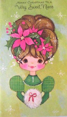 Old Christmas Post Сards — Vintage  (491x850)