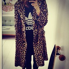 Nothing like leopard and Adidas