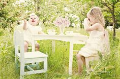 Little Girls tea party #photography