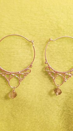 Wire hoop earrings by Moxi