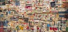"""In 1977, Shinro Ohtake began his ongoing series of """"Scrapbooks,"""" for which he is renowned and has to date completed more than 60. Due to the elaborate process of making the Scrapbooks, each one becomes both a painted and sculptural entity. An extensive presentation of his Scrapbooks was shown during the 2013 Venice Biennale."""