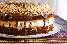 "Кулинарная книга Алии: 455. Торт ""Сникерс"""