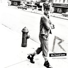 Rihanna We Found Love cover; wearing balenciaga cut out boots from spring 2011