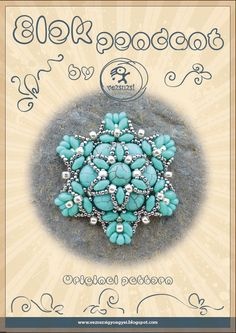 *P pendant tutorial / pattern Elek pendant with superduo...PDF instruction for personal use only. $13.00, via Etsy.