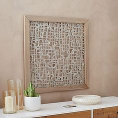 West Elm Wall Decor framed handmade paper wall art - overlapping lines #westelm