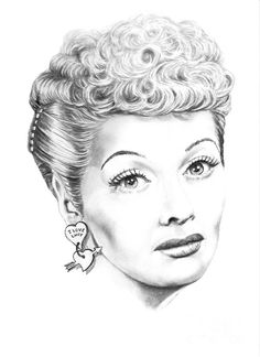 I Love Lucy by Murphy Elliott ~ traditional pencil art ~ Lucille Ball Coloring Pages To Print, Coloring Book Pages, Funny Caricatures, Celebrity Caricatures, Celebrity Drawings, Pencil Art, Pencil Drawings, I Love Lucy, My Love