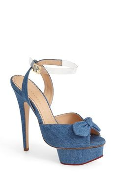 Charlotte Olympia 'Serena' Ankle Strap Sandal (Women) available at #Nordstrom