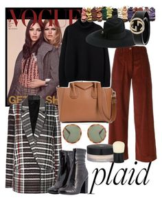 """""""Plaid #2"""" by unaqualunque ❤ liked on Polyvore featuring Haider Ackermann, SEMICOUTURE, Givenchy, Steve Madden, Gucci, Chanel and Anastasia Beverly Hills"""