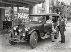 """San Francisco, 1925. """"Nash touring car at Nash-Ajax agency."""""""