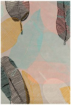We can't help but to fall in love with theJessica Swift Soothing Leaves Rug in Bright! Gorgeous! #nursery