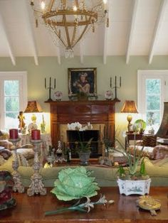 green walls in suzy stouts family room