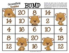This is a FUN game for your students to practice adding doubles! In this game, students practice their fluency with addition doubles  facts 1 through 10 while moving along the game board BUMPING each other out of the way.This is GREAT way for students practice without flash cards.A printable is included to assess learning.