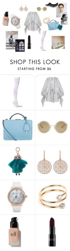 """Silver girl"" by maria-chamourlidou ❤ liked on Polyvore featuring Balenciaga, Roland Mouret, Mark Cross, Dolce&Gabbana, Fendi, Astley Clarke, Blancpain, Annina Vogel and e.l.f."