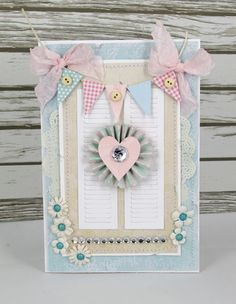love the pendant banner tied off with bows | by Alena Grinchuk Scrapbook.com
