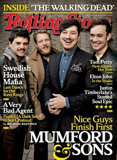Mumford & Sons on the March 2013 cover. I love Mumford & sons! Marcus Mumford, Mumford Sons, Michael Hastings, Rolling Stone Magazine Cover, Soul Stone, Last Dance, Guitar Lessons, Guitar Tips, Rolling Stones