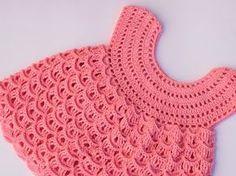 TEJE VESTIDO ROSY PARA NIÑA - Crochet fácil y rápido - Yo Tejo con LAURA CEPEDA - YouTube