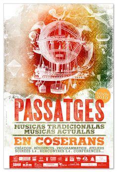 Passatges 2010 2011 poster by Fabien Barral