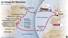 """La Rochelle : revivez le départ de """"L'Hermione"""" vers l'île d'Aix - SudOuest.fr"""