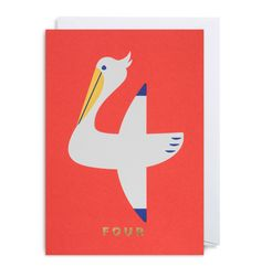 NUMBER FOUR PELICAN by Cozy Tomato for Lagom Design UK
