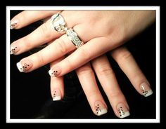Stamping sur french résine acrylique #nailart #stamping