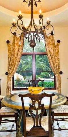 Mediterranean tuscan old world decor on pinterest for Old world window treatments