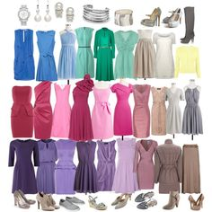 Soft Summer - The Colors Summer Color Palettes, Soft Summer Color Palette, Summer Colors, Cool Winter, Lady Like, Seasonal Color Analysis, Color Me Beautiful, Beautiful Dresses, Fashion Colours