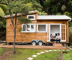 Joining the 'tiny house' movement sent this couple on a DIY journey that led them from London to an idyllic corner of Auckland's Henderson Valley