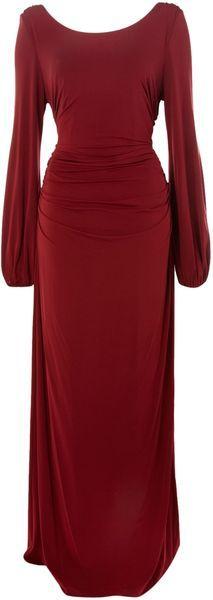 Biba Red Waterfall Jersey Maxi Dress.