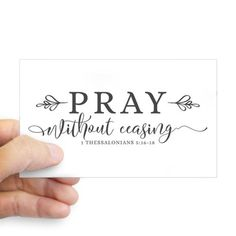 1357bcb5681c57 Pray without Ceasing Decal on CafePress.com