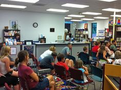 Story teller Pat Neese at the Mary Esther Public Library