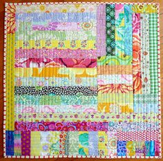 would use lots of scraps! consider this for donation quilts for kids.