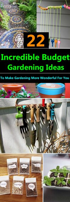Cheap, easy and functional DIY garden ideas on a budget that'll make gardening more wonderful for you.