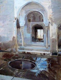 Joaquin Sorolla y Bastida (Valencia, 1863 - Cercedilla, 1923) Patio de la Justicia de la Alhambra (1910)