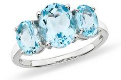 Blue topaz ring! #december #birthstone