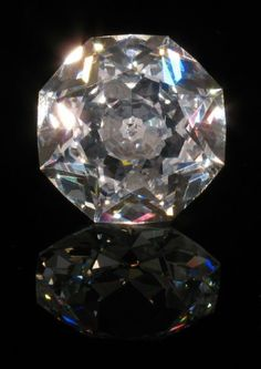 The Pasha Diamond: The earliest reference to the appearance of the Pasha is from Dieulafait (1874).  It shows a drawing of an octagonal stone weighing 40 carats.  Although once owned by Barbara Hutton, the Woolworth heiress, and King Farouk of Egypt, there is no other reference to it in the octagonal form.  Unfortunately, Hutton did not like the shape, and had the only octagonal historic diamond recut to a 36 carat round stone.
