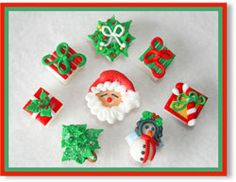 Merry Christmas Bouquet Hand Decorated Sugar Cubes