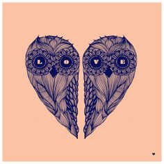 Cool Owl Heart Tattoo Inspiration #tattoos #love