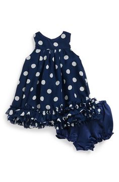 Pippa & Julie Polka Dot Dress & Bloomers (Baby Girls)