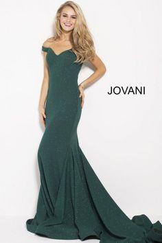 a0c51ddde30 Size 4 Hunter Jovani 55187 Off the Shoulder Glitter Prom Gown
