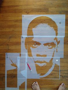 Stencil art #ArtByPush #JayZ
