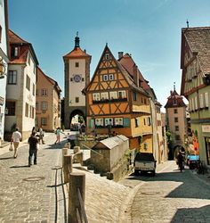 Historic Homes and streets of Celle, Germany.  Great food, too!